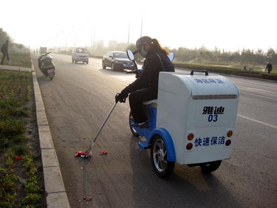 乌海市电动保洁车 服役