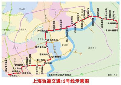 上海地铁12号线被指偷工减料 申通集团 已停工图片