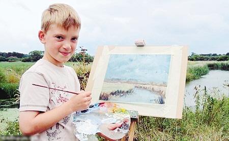 9岁英国天才小画家作品被抢购