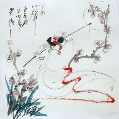 而减笔画是中国画历来所推崇的简约之美