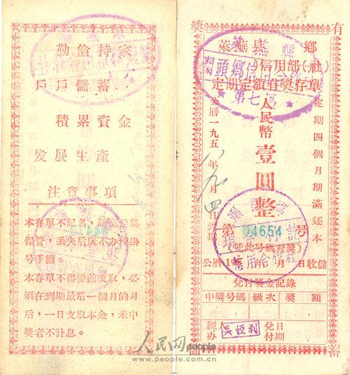 老照片 那些在农信社常见的票证单据
