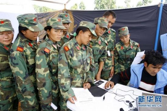 尼泊尔军队整编工作正式开始(1)
