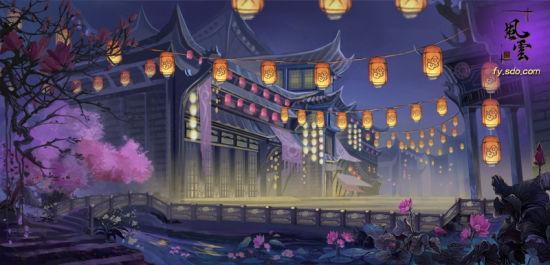 锦里小吃街穿越《风云》图片