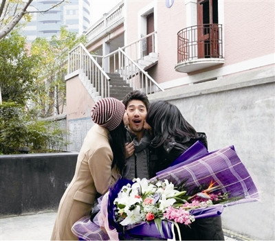 赵又廷遭高圆圆、姚晨热吻告别当场害羞脸红发表情图片女生和猪的男生包图片