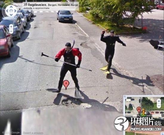 谷歌街景服务拍到的雷人奇观