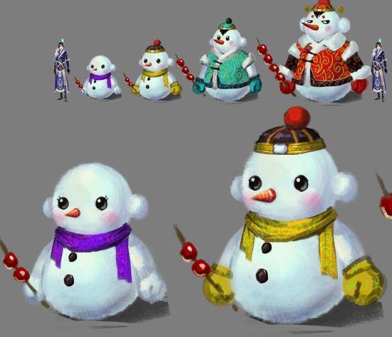 可爱的小雪人是这次元旦活动的主角哦!