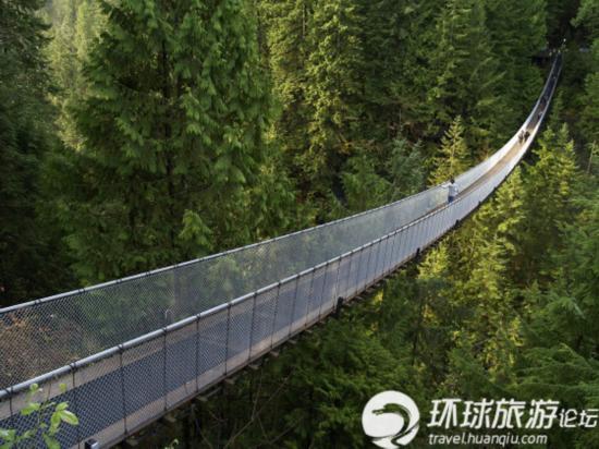 挑战世界上最长的吊桥