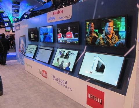 聚焦ces2012:海尔首推无边框裸眼3d云电视