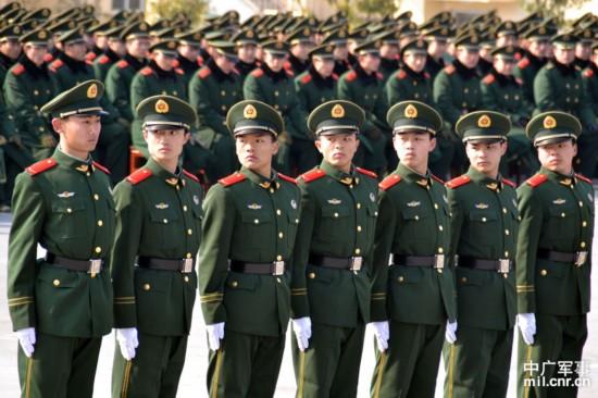 武警1300名新兵会操 比武 竞风流 1