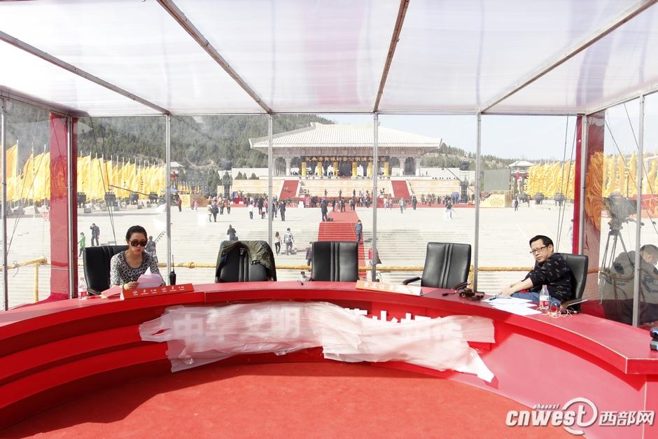 陕西广播电视台两岸直播室搭建完毕