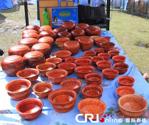 门巴族手工艺品木碗