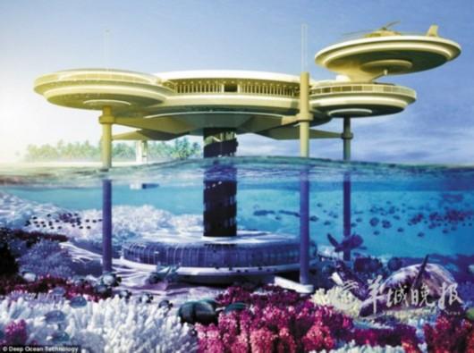 迪拜将建半潜式海底酒店