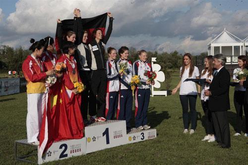 2012现代五项世锦赛历史性突破 中国女队收获亚军