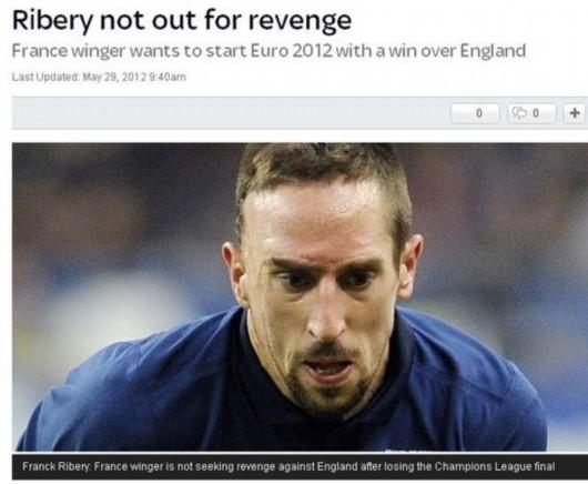 里贝里战英格兰不谈欧冠复仇 纳斯里盼提升防守