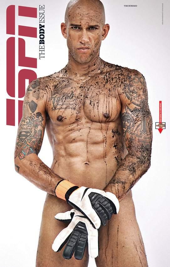 美国20位著名运动员拍全裸写真展现人体美