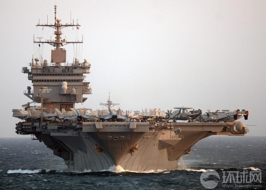 企业号航母编队准备返回母港-美国海军 企业 号航母最后一次返回母港