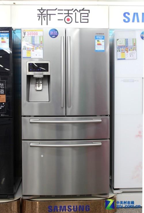 这款三星rfg28mesl冰箱采用变频压缩机,电脑温度控制.图片