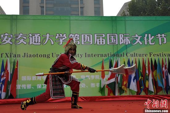 77国留学生齐聚西安展示异域文化__教育中国