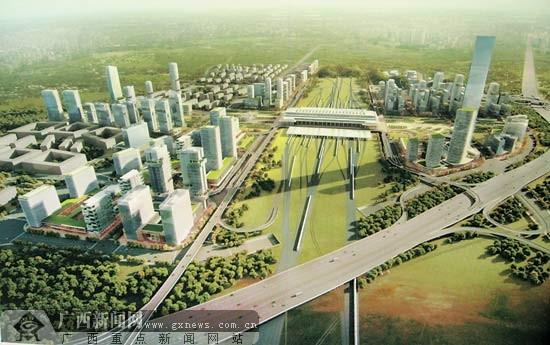 南宁火车东站周边地区城市设计方案:5方案选哪个?
