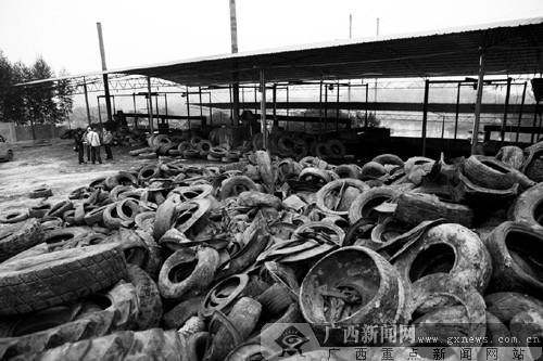 广西柳州:山寨厂废旧轮胎炼油 排放大量致癌物