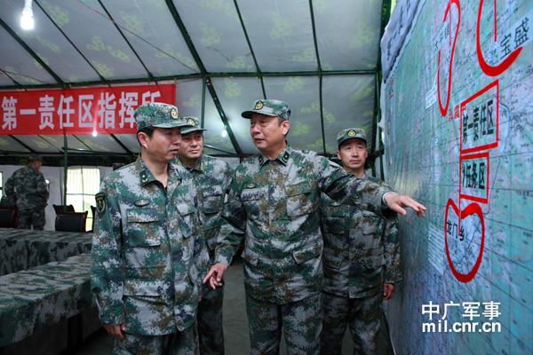 成都军区13集团军部署第三阶段救灾工作(图)