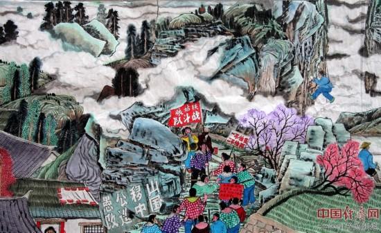 刘宪中百米历史长卷绘画《大河散曲图卷》欣赏(图)