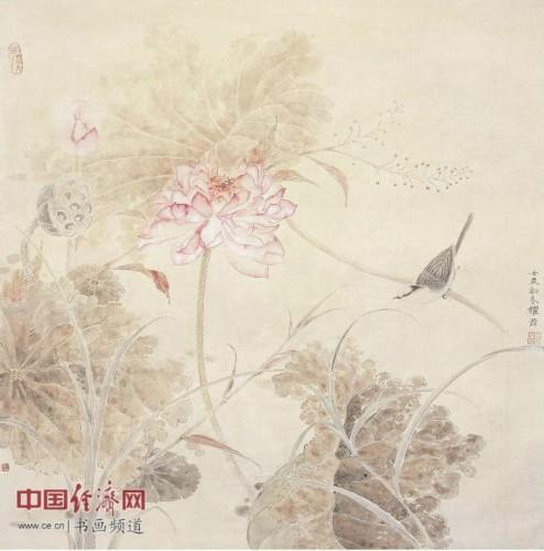 女画家张耀君工笔画作品欣赏