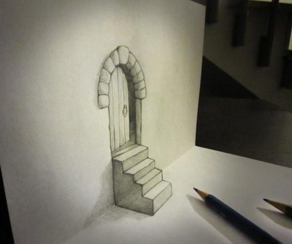 艺术家3D铅笔绘画化平凡为奇迹