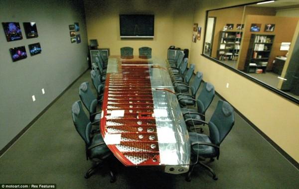 美国公司用废弃飞机零件打造办公家具(组图)