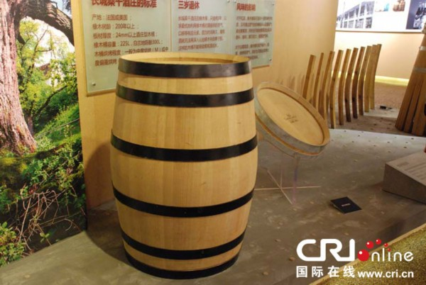 酒庄酿酒用的橡木桶