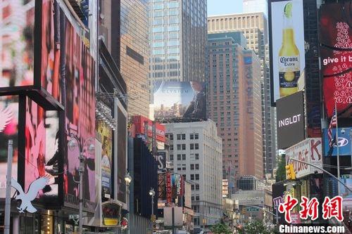 图为美国纽约时代广场 韩胜宝摄