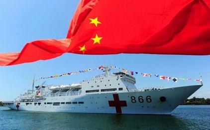 """中国海军""""和平方舟""""号医院船-大校 赴菲救援医院船经验丰富 我军图片"""