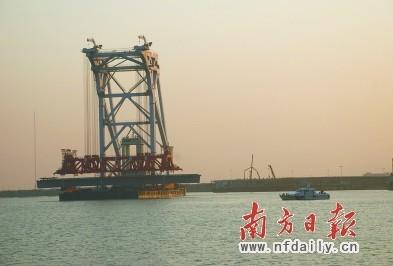 港珠澳大桥逾七成构件 中山制造