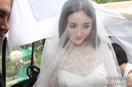 杨幂婚礼现场美照曝光 伴娘唐嫣靓翻天/图