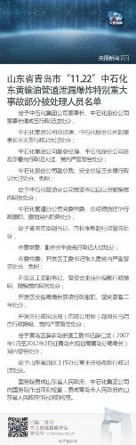 中石化董事长青岛爆炸被处分