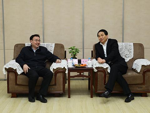 马军胜局长会见扬州市市长朱民阳一行