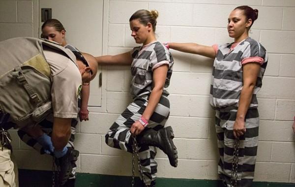 揭秘美国女子重囚监狱 手铐脚镣加身 高清组图
