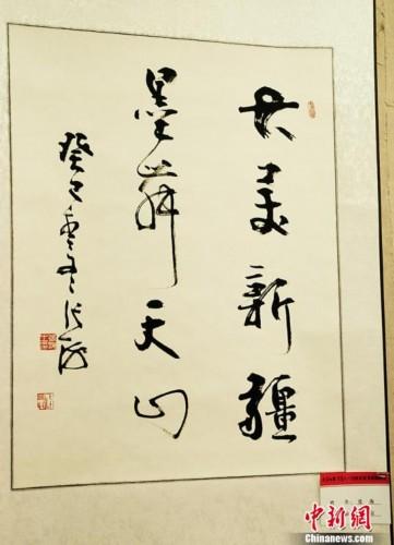 中国书法家协会张海主席作品.马新龙摄图片