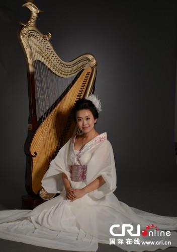 """""""    中国的箜篌和西洋乐器中的竖琴在外形上非常相像,弹奏方法也很图片"""