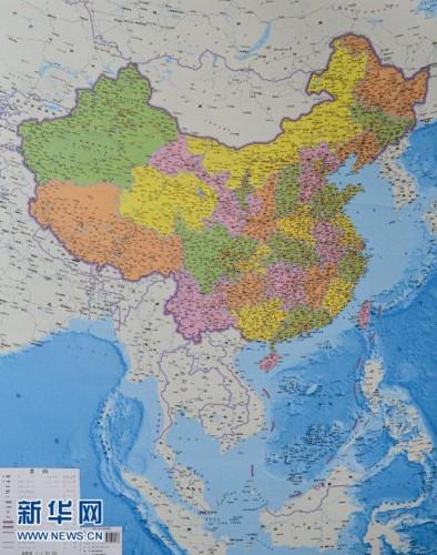 中国竖版地图问世并发行 为国内首创