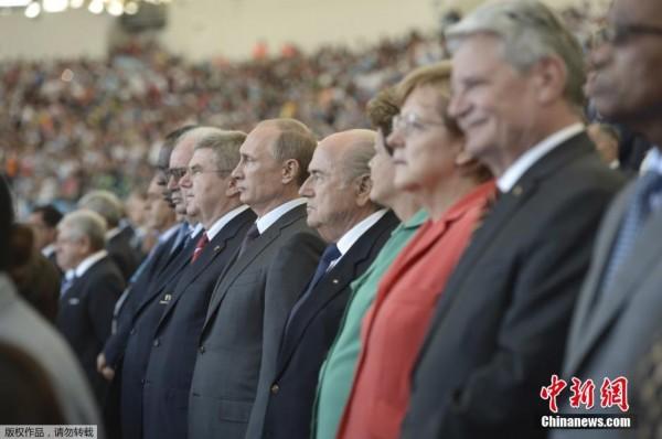 普京观看世界杯决赛 俄罗斯接棒2018世界杯