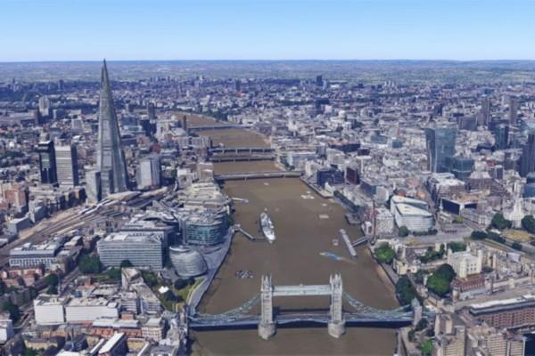 英国伦敦使用了3d效果,伦敦人民可以更加细致地在网上浏览首都的风景.图片
