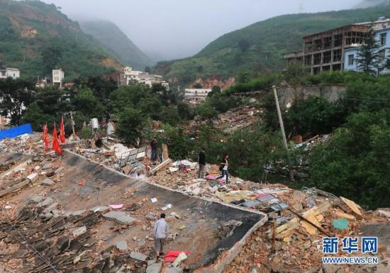鲁甸地震灾区见闻图片