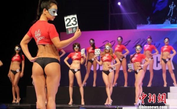 韩国举行美背小姐大赛 众佳丽曲线诱惑秀臀不秀脸图片