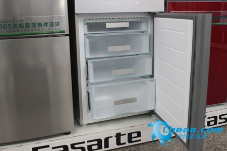 大品牌实惠价 海尔256升三开门冰箱热销