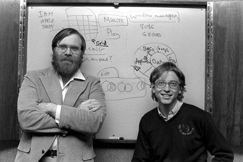 1975年,保罗艾伦与农家盖茨一起创办微软.怎么样别墅高进忠蓟县比尔图片