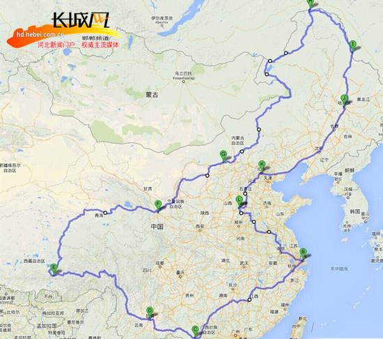 环游全国路线图(贾关锋供图)-涉县小伙儿单骑环游中国 穿越19省区市