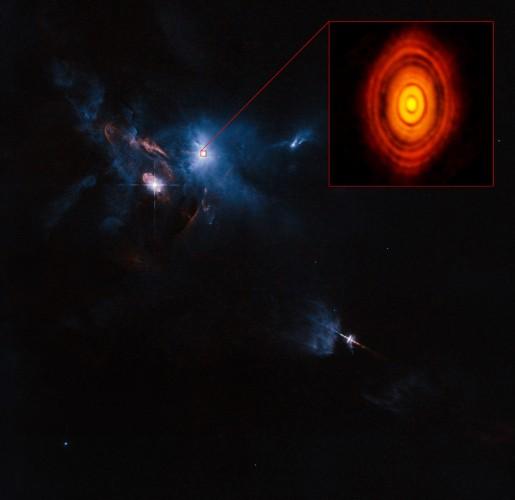 欧洲天文台发布太阳系与金牛座及其原行星盘图片