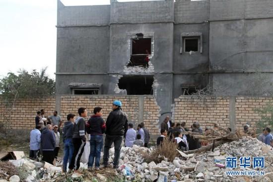 """利比亚""""国民军""""空袭首都的黎波里机"""