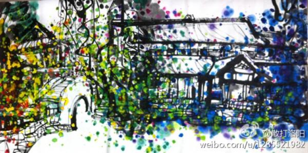 锦里街道手绘图